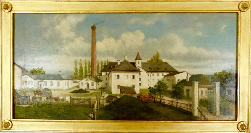 """Ölgemälde der """"Winklmühle"""" aus 1882 von Prof. Otto Fessler."""