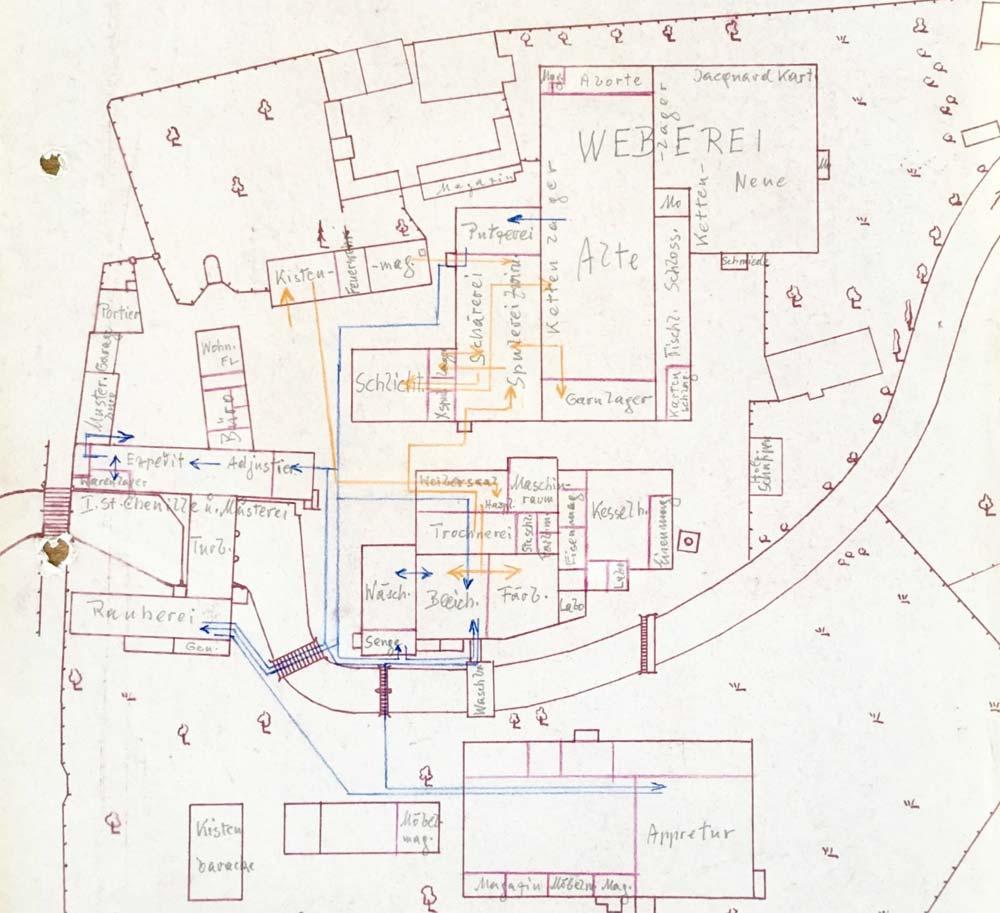 Fabrikseinteilung nach der Reorganisation wegen dem Wegfall der Wiener und Haslauer Produktionstätten durch den Strategen Fritz Lang persönlich.