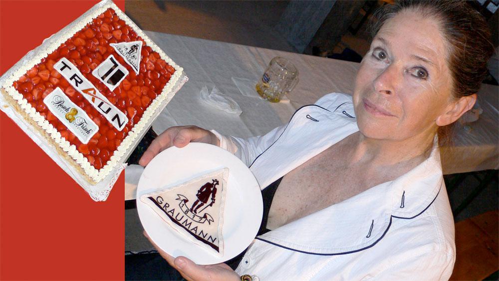 Die Bäckerei und Konditorei Resch & Frisch steuerte süße Kunstwerke bei – präsentiert von Christine Lang.