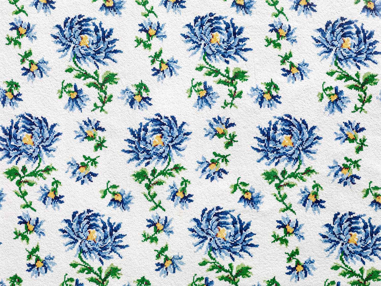 """Graumann Badetuch """"Chrysanthemen"""" 140 x 140 cm (Ausschnitt)."""